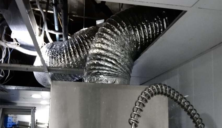 Installation of new exhaust ventilation fan unit